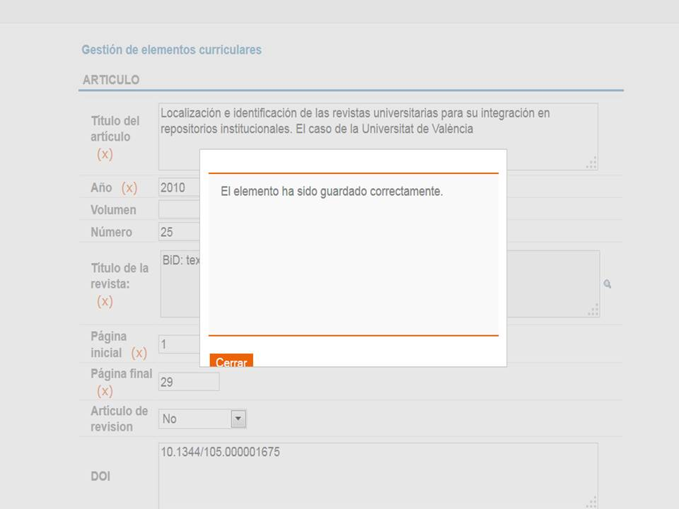 Guardar registro