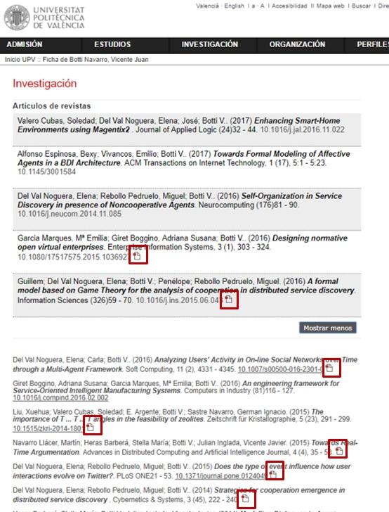 Visibilitat en la fitxa personal de articles